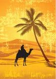 Deserto de Sahara ilustração stock