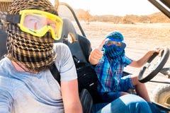 Deserto de Sahara - lazer e curso ativos a Egito fotografia de stock