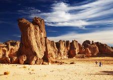 Deserto de Sahara, Tassili N'Ajjer, Argélia Fotos de Stock Royalty Free