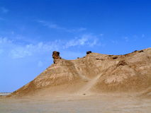 Deserto de Sahara, Tunísia, rocha do pescoço do ` s do camelo imagens de stock royalty free