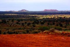 Deserto de Simpson, estação das chuvas Fotos de Stock Royalty Free
