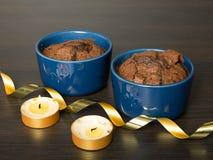 Deserto del cioccolato Fotografia Stock Libera da Diritti