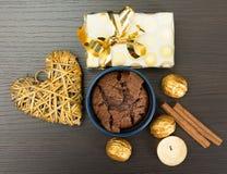 Deserto del cioccolato Fotografia Stock