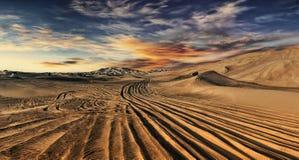 Deserto del Dubai Fotografia Stock