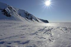 Deserto del ghiaccio Fotografie Stock