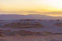 Deserto del lut dell'Iran fotografie stock