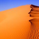 Deserto del Marocco delle dune di sabbia Fotografia Stock