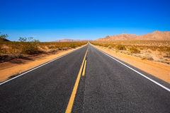 Deserto del Mohave da Route 66 in California U.S.A. Fotografie Stock