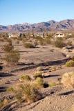 Deserto del Mojave di selvaggi West di California edifici di Abamdoned Immagini Stock