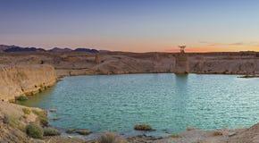 Deserto del Negev dopo pioggia tropicale fotografia stock libera da diritti