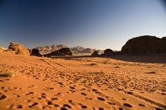 Deserto del rum dei wadi, Giordano Fotografia Stock Libera da Diritti