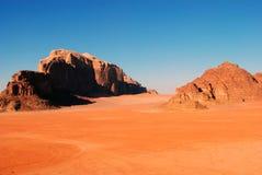 Deserto del rum dei wadi, Giordano Fotografie Stock Libere da Diritti