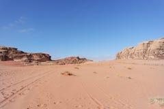 Deserto del rum dei wadi, Giordano Immagine Stock