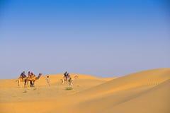 Deserto del Thar in India occidentale Fotografia Stock Libera da Diritti