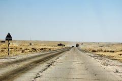 Deserto del throuhg della strada, paesaggio dell'Oman Fotografia Stock Libera da Diritti