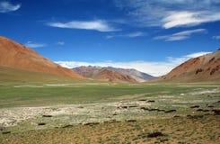 Deserto dell'alta montagna di Colouful e steppa in Himalaya occidentale, I Fotografia Stock