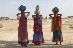 Deserto dell'India, Ragiastan, Thar: Indiano Colourful wo Fotografia Stock