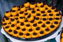 Deserto della mela dell'oro o dessert tailandese Saneh gennaio fotografie stock
