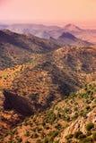 Deserto della montagna nel Marocco fotografia stock