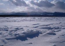 Deserto della neve fotografia stock