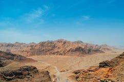 Deserto desolato del fof di vista aerea vicino a Yazd Persia, Iran Immagine Stock Libera da Diritti