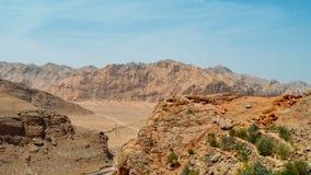 Deserto desolato del fof di vista aerea vicino a Yazd Persia, Iran Immagine Stock