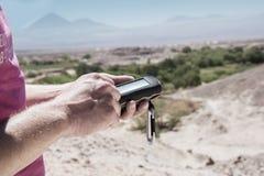 Deserto di Atacama di Geocaching Fotografia Stock Libera da Diritti