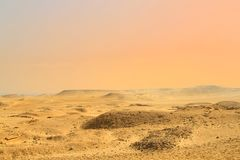 Deserto di Il Cairo, Egitto fotografia stock