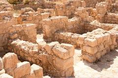 Deserto di Judean. Le rovine del monastero di Euthymius. Immagine Stock Libera da Diritti