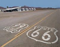 Deserto di Mojave dell'itinerario 66 Fotografia Stock