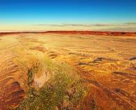 Deserto di Namib, vista aerea Fotografie Stock Libere da Diritti