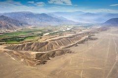 Deserto di Nazca nel Perù fotografia stock libera da diritti