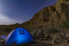 Deserto di notte Immagine Stock