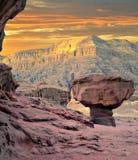 Deserto di pietra nel parco di Timna, Israele Immagini Stock Libere da Diritti