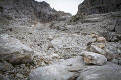 Deserto di pietra nelle alpi austriache, Europa Immagini Stock Libere da Diritti