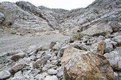 Deserto di pietra nelle alpi austriache, Europa Fotografie Stock