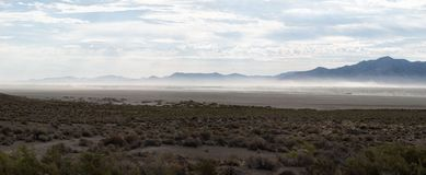 Deserto di rocce nero Immagine Stock