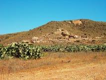 Deserto di Rodalquilar- Almeria fotografia stock libera da diritti