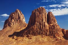 Deserto di Sahara, montagne di Hoggar, Algeria Fotografia Stock