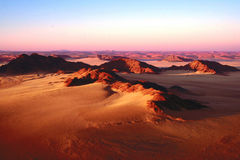 Deserto di Sossusvlei Namib dall'aerostato Fotografie Stock
