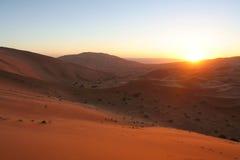 Deserto do nascer do sol Imagens de Stock Royalty Free