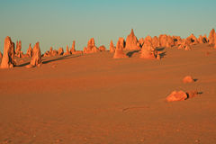 Deserto dos pináculos, Austrália Ocidental Imagens de Stock Royalty Free