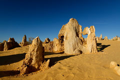 Deserto dos pináculos, Austrália Ocidental Foto de Stock Royalty Free