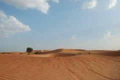 Deserto e cielo Immagini Stock Libere da Diritti