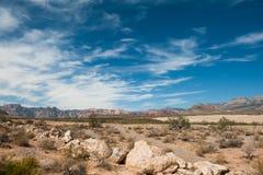 Deserto e montagna Immagine Stock
