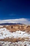 Deserto e montanhas de Colorado na neve foto de stock