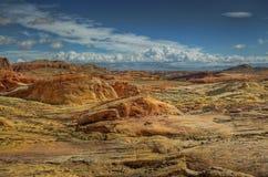 Deserto e nubi Immagine Stock Libera da Diritti