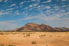 Deserto e una montagna, Marocco Immagini Stock Libere da Diritti