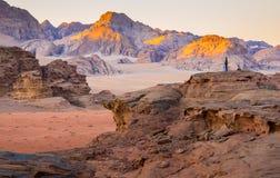 Deserto em uma manhã Foto de Stock Royalty Free