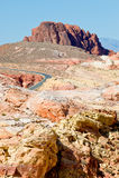 Deserto estéril de Nevada fotografia de stock